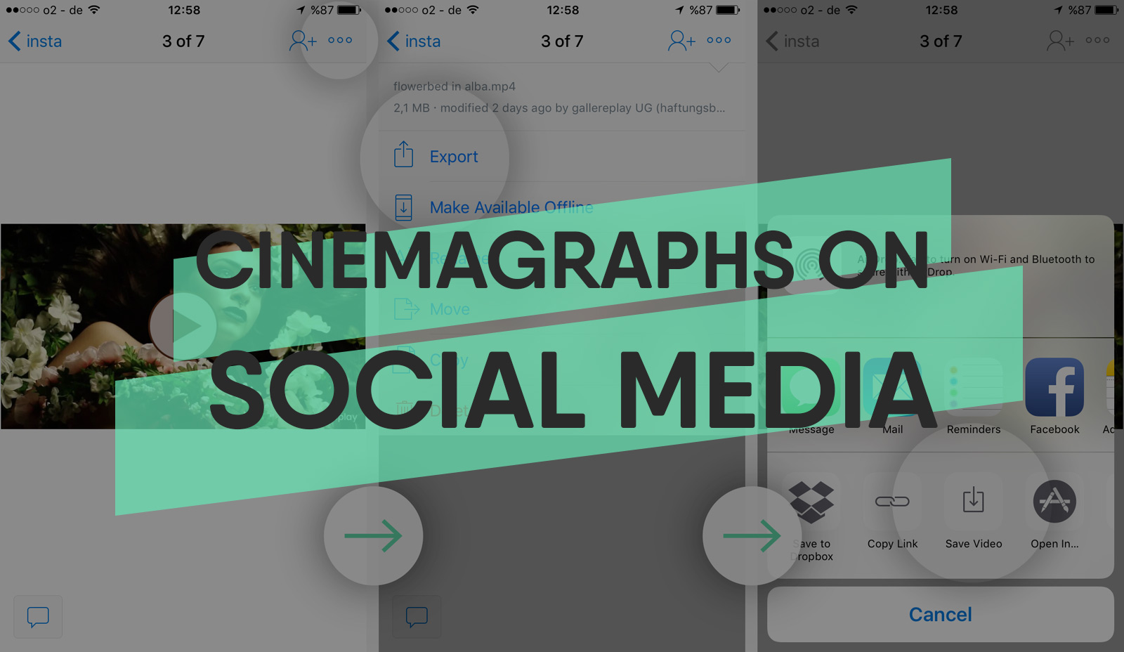 How to Post Cinemagraphs to Facebook, Instagram and Twitter
