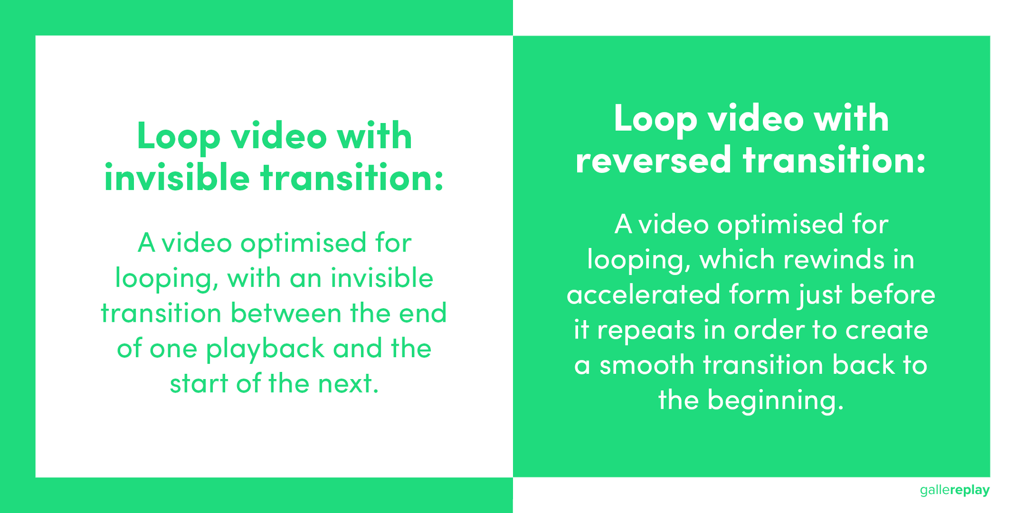 Introducing All Kinds of Loop Videos with Invisible and Reversed